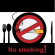 No smoking in dining room — Stock Vector
