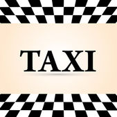 Vector taxi cab background. — Stock Vector