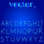 Handwritten Vector Neon Light Alphabets — Stock Vector