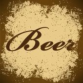 Beer Vintage Poster Vector — Stock Vector