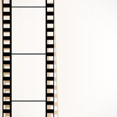 Old filmstrip. Movie ending frame. — Stock Vector