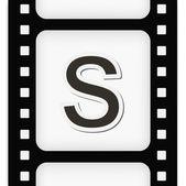 Filmstrip the letter — Stock Vector