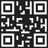 Sample qr code ready to scan — Stock Vector
