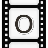 Filmstrip the letter — Stock Vector