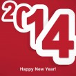 Stylized 2014 Happy New Year background — Imagen vectorial