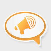 Speech bubble megaphone — Stock Vector
