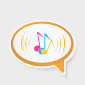 Speech bubble with notes — Stock Vector