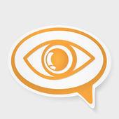 Speech bubble eye — Stock Vector