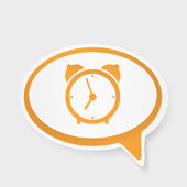 Speech bubble watch — Stock Vector