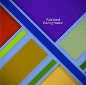 Fond rétro avec des carrés de couleur et les rayures — Vecteur
