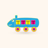 Baby locomotive icon — Stock Vector