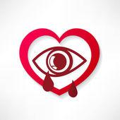 Heart eye design — Stock Vector
