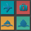 Transportation icons set — Stock Vector