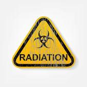 Radiation warning sign — Stock Vector