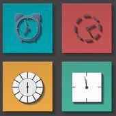 Clock icons set — Stock Vector