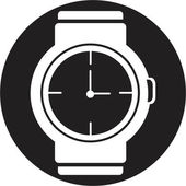 Wristwatch icon — Stockvektor