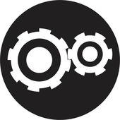 Black cogs — Stock Vector