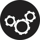 Cv negro — Vector de stock