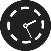 時計のアイコン — ストックベクタ