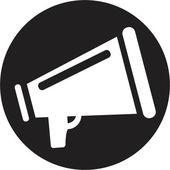 Megaphone-ikonen — Stockvektor