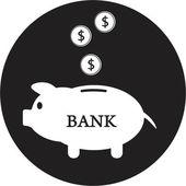 Piggy bank icon — Stock Vector