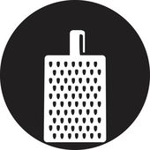 Grater for vegetables and fruits icon — Stockvektor