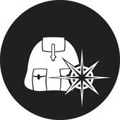 Backpack icon — Vector de stock