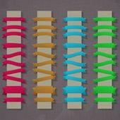 向量组的复古丝带 — 图库矢量图片