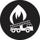 Пожарная машина — Cтоковый вектор
