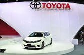 NONTHABURI - MARCH 25: New ToyoTa Altis E-sport on display at Th — Stock Photo