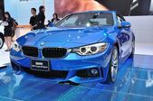 NONTHABURI - MARCH 25:NEW BM 420I coupe M sport on display at Th — Stock Photo
