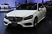 NONTHABURI - March 25: New Mercedes BENZ E 300 Bluetec Hybrid on — Stock Photo