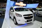 NONTHABURI - March 25: New Chevrolet Spin 1.5 Litre on display a — Stock Photo