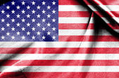 National Flag of United state of America — Stock Photo
