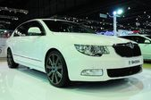 NONTHABURI - NOVEMBER 28: Skoda Superb 1.8 TSI on display at The — Stock Photo