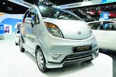 NONTHABURI - NOVEMBER 28: TATA Nano on display at The 30th Thail — Stock Photo
