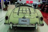 NONTHABURI - NOVEMBER 28: MG A, Classic designed car, on display at The 30th Thailand International Motor Expo on November 28, 2013 in Nonthaburi, Thailand. — Stockfoto