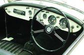 NONTHABURI - NOVEMBER 28: Interior of MG A, Classic designed car — 图库照片