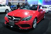 BKK - NOV 28: The new Mercedes Benz  E-class cabriolet on displa — Stock Photo