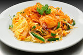 Pad Thai with Fresh Shrimp — Stock Photo