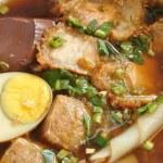 Paste of rice flour with pork — Stock Photo #49848045
