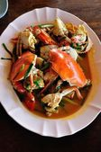 Sea crab fried with tamarind sauce — Stockfoto