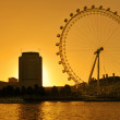 The London Eye skyline - Stock Photo