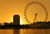 The London Eye skyline — Stock Photo