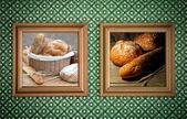 Bakkerij brood frames — Stockfoto