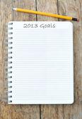 2013 Goals — Stock Photo