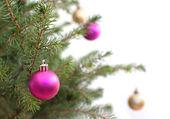 Xmas tree baubles — Stock Photo