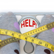 Stock Photo: Weighing scales