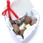 Valentines chocolates — Stock Photo