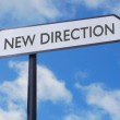 New direction sign — Stock Photo #22283935